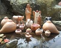 Algunas creaciones en cerámica,  Modelado y Decoración.