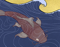 Issun- Boshi book illustrations