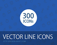 300 Vector Line Icons