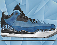Air Jordan 3 Retro Powder Blue Illustration -