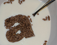 Chocolate-Flavoured Rice Cereal Typography