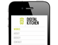 Progetto Digital Kitchen, responsive layout iphone ipad