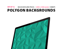 Polygon Backgrounds set of 12