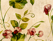 Sweet Pea watercolor pattern