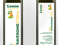 Oleificio Leone - Olive Oil label (bottle and oilcan)