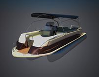 Эскизы пантонного катера | Pontoon boat concept