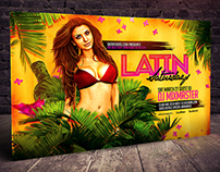 Latin Night Horizontal Flyer Template