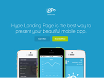 Hype - App Landing Page