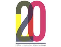 University of Warsaw 200th Anniversary branding design