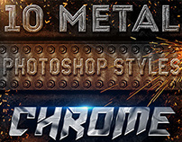 10 Epic Metal Photoshop Styles