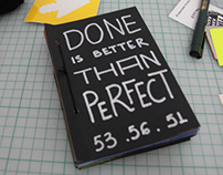 """Done Is Better Than Perfect"" 1 hour sketchbook project"