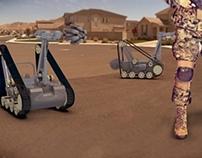 Mobile Robot Complex for destruction