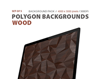 Polygon Backgrounds Wood