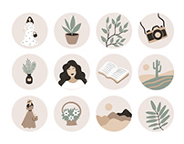 Instagram highlights design, Illustrated Icons