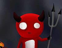 Red Boy al estilo Tim Burton