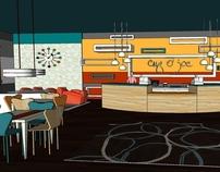 "SKETCHUP STUDY-""Cup O' Joe coffee shop"""