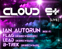 Debrec'N'Bass presents: CLOUD 9+ [LIVE] & IAN Autorun