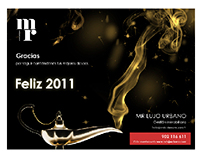 Felicitación navideña MR Lujo Urbano. 2010-2011