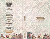 Graphic design of a dvd cover: New York