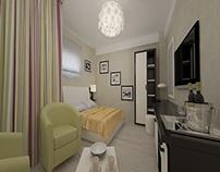 Amenajari interioare camere hotel - Lenjerie pat damasc