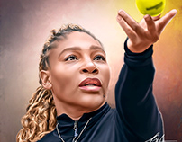 Serena Digital Painting by Wayne Flint