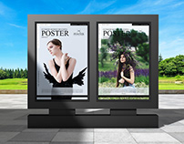 Outdoor Modern Branding Poster Mockup Free