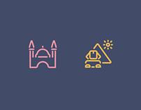 Landmark icons