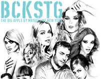 "ILLUSTRATIONS - MAYBELLINE NYC GUIDE 2014 ""BCKSTG"""