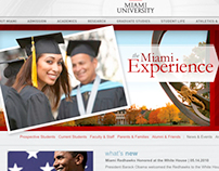 Miami University of Ohio Website Redesign