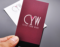 Click Your Wine Logo & Business Card Design