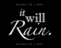 """It Will Rain."" - Typography"