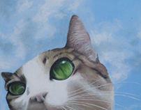 Napoleon Cat Head Painting