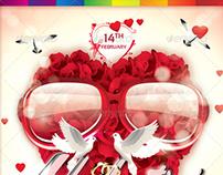 Valentines Sunglasses Flyer Template