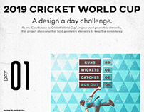 2019 Cricket World Cup | A Design A Day | PART 1.