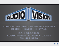 Audio Vision Logo and Business Card