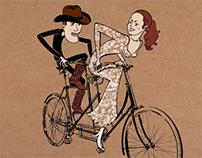 Wedding Invitation — Bicycle Love