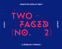 Twofaced No.2 Display Typeface