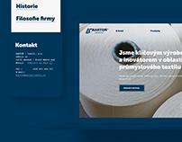 Web pro inovátora v oboru průmyslového textilu