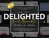 DELIGHTED FONTS BUNDLE