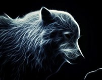 Glowing Artic Wolf