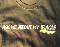 Flip up shirt -  ASK ME ABOUT MY EAGLE