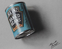 A can of baked beans - drawing