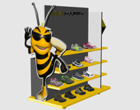 Exhibitor for tennis Bee Happy