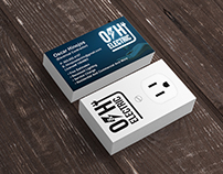 Business card design for electrical contractor