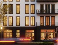 Visualisierung - Wohnhaus in der Stadt