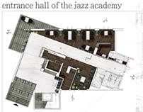 entrance hall of the jazz academy
