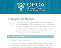OPCA e-newsletter template design