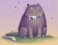 Slobbery Cat