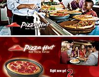 Pizza Hut postcard mass mailers