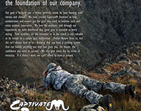 Full page print ad for hunting supplier